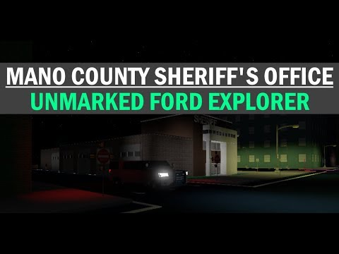 roblox mano county sheriffs office unmarked ford explorer youtube