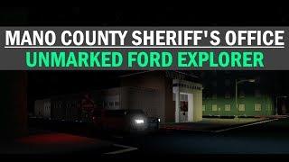 ROBLOX Oficina del Sheriff del Condado de Mano EXPLORADOR FORD NO MARCADO