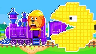 Lion Family 🕹️ Arcade Game #12. Pacman Assists | Cartoon for Kids