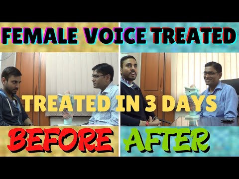SLP Sanjay Kumar: Before & After Therapy A London Guy With High Pitched Voice Problem/Puberphonia