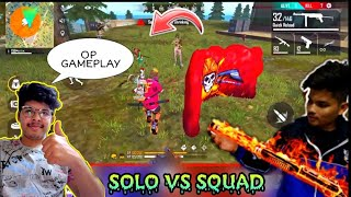 FREE FIRE SOLO VS SQUAD || TSG RITIK OP GAMEPLAY|| OP HEADSHOTS IN RANK MATCH|| LIVE REACTION