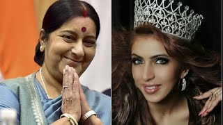 Miss India Tourism Ishika Taneja Has Found A Unlikely Savior In Union Minister Sushma Swaraj