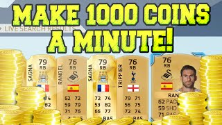 MAKE 1000 COINS A MINUTE! AMAZING LOW BUDGET TRADING METHOD   FIFA 16 ULTIMATE TEAM