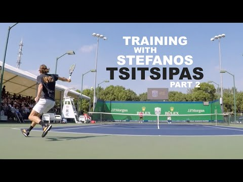 Training With Stefanos Tsitsipas - ATP Masters 1000 Shanghai | Part 2 (TENFITMEN)