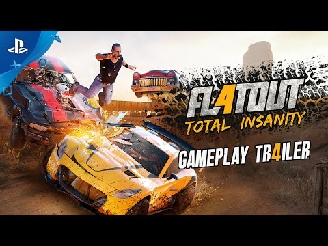 video flatout 4 total insanity gameplay trailer ps4. Black Bedroom Furniture Sets. Home Design Ideas