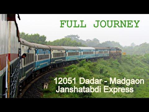 12051 MADGAON JANSHATABDI EXPRESS | MUMBAI to RATNAGIRI - Full Journey (Part -I ) !!