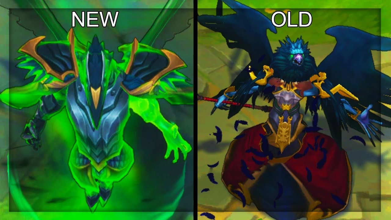 All Swain Skins New And Old Texture Comparison Rework 2018