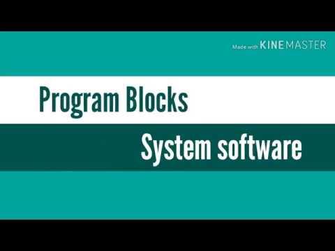Program Blocks(System Software, KTU Syllabus)