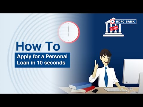 Want a personal loan instantly? HDFC Bank Personal Loan #in10secs. HDFC Bank, India's no. 1 bank*