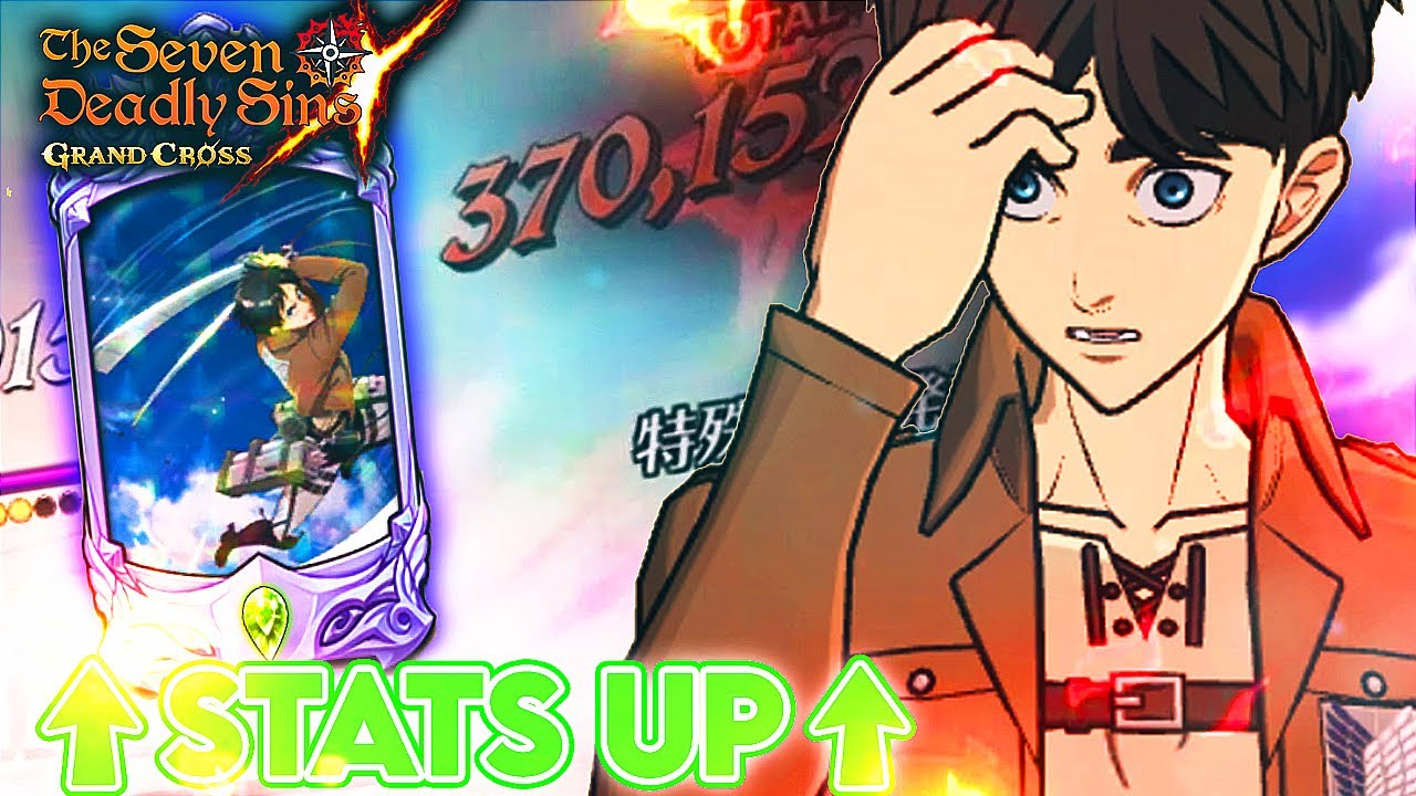 HE GOES GOD MODE IN PVP THIS WEEK!!! SR EREN BOOSTED RULE!! | Seven Deadly Sins: Grand Cross