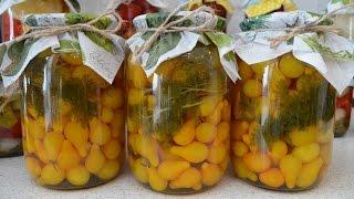 Консервированные желтые помидоры