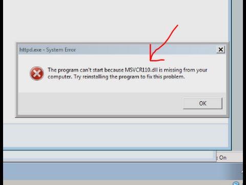 msvcr110.dll Hatası  ve  Çözümü