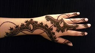 Arabic Simple Henna - Latest Mehndi Design - How To Apply Henna Mehendi Tattoo On Hand