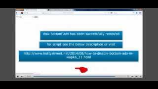 How To Remove Wapka Bottom Ads,hide wapka bottom ads,Disable Wapka Bottom Ads,wapka tips and tricks