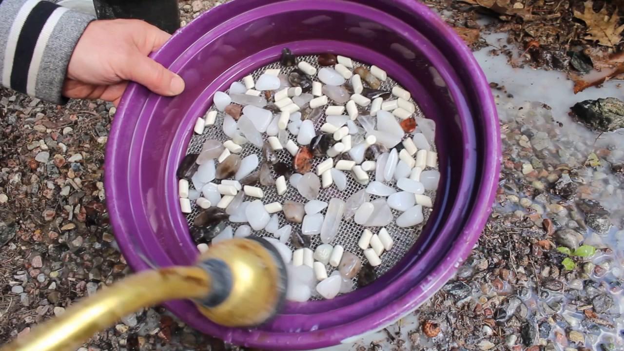 rock tumbling quartz - step 3  pre-polish