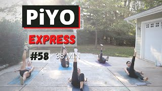 38 Min PiYO EXPRESS #58 | At HOME No Equipment | Low-Impact |Yoga Flow
