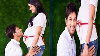 Allu Arjun & His Pregnant Wife Sneha Exclusive Footage