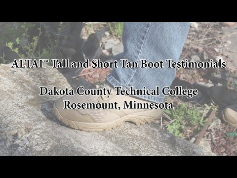 ALTAIgear™ Boot Testimonials at Dakota County Technical College