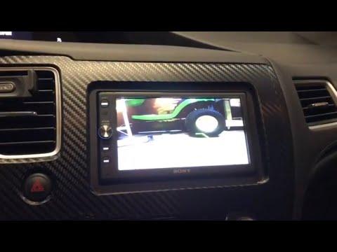 Front facing car camera install into Honda Civic