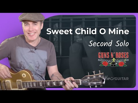 How To Play Sweet Child O' Mine [#5 SECOND SOLO] Guns 'n' Roses - Guitar Lesson Tutorial (CS-011)