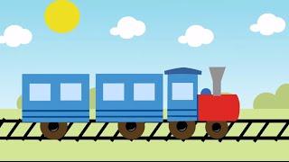 Мультфильм паровоз. Мультик паровозик. УЧИМ ЦИФРЫ. Развивающие мультики для детей.