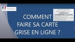 COMMENT FAIRE SA CARTE GRISE ! ANTS 2018