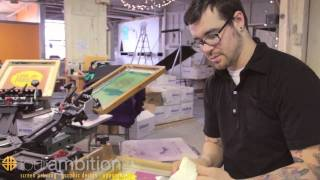 Dye Discharge screen printing tutorial with Four Ambition