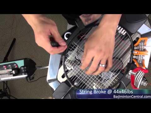 High Tension Badminton Stringing - String Broken at 44x46 lbs