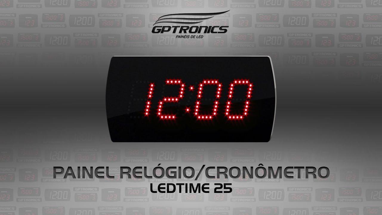 51c4ee96015 Painel Digital Relógio Cronômetro
