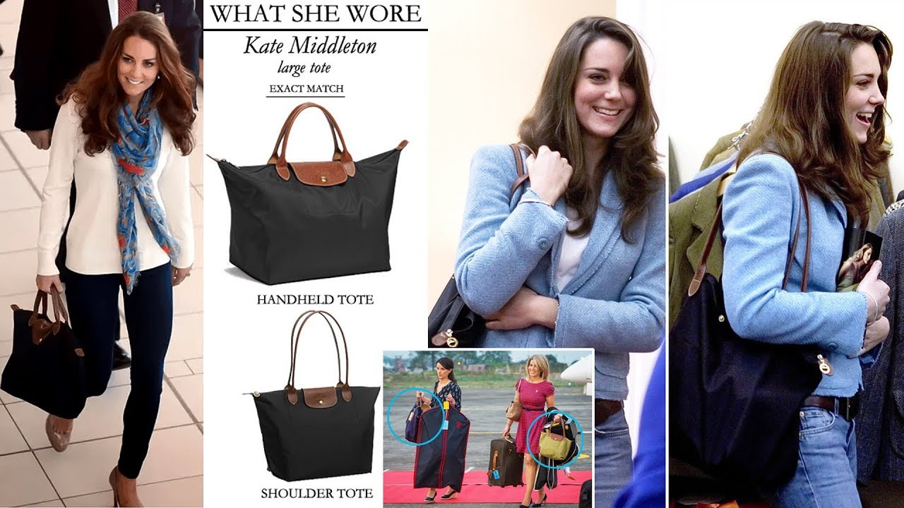 b8410470be14 Kate s Love of Longchamp Tote Bags Basically Makes Her the Most Relatable  Royal Ever