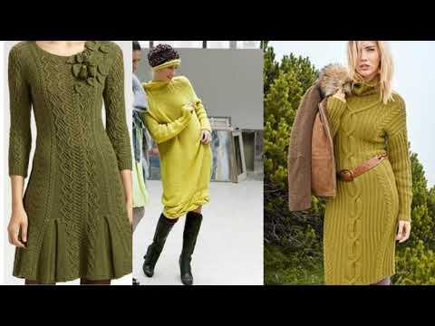 Вязание спицами для женщин модные модели платья 2016 года с описанием