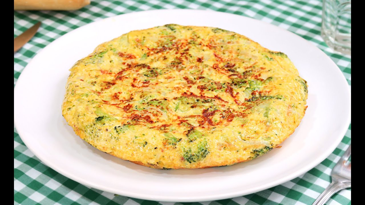 Tortilla de br coli youtube for Como se cocina el brocoli
