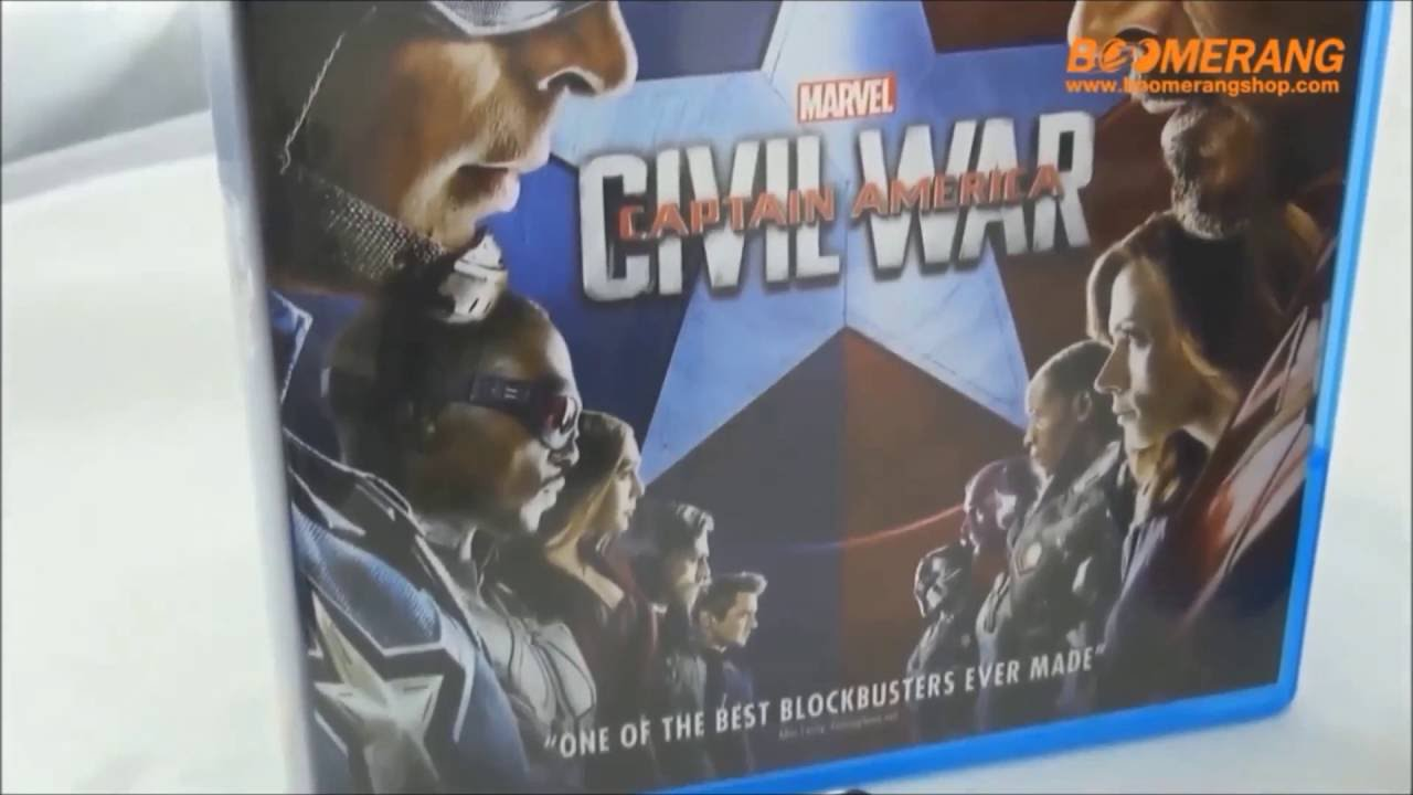 Open Box Blu-ray Captain America: Civil War (Blu-ray 3D, Blu-ray 2D,  Steelbook)