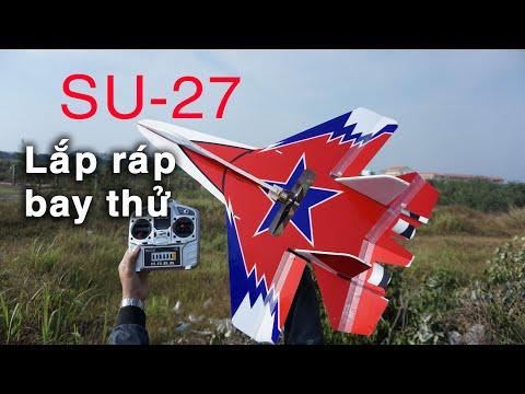 Ráp máy bay SU-27 với combo giá rẻ - Su-27 RC aircraft assembly │S-DiY