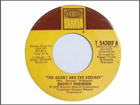 "The Agony And The Ecstasy - In The Style Of ""Smokey Robinson"" - Sung By The Oldies Singer21"