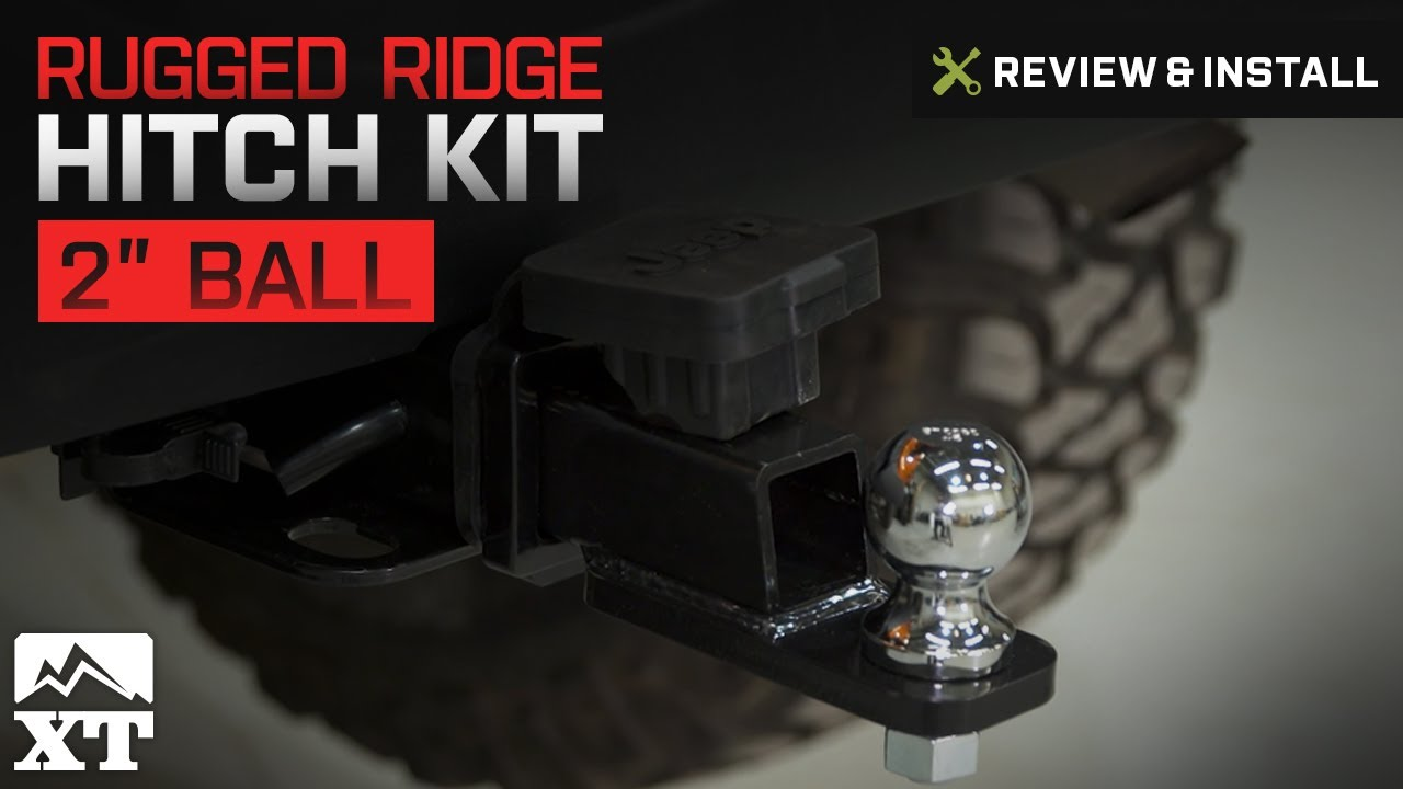 rugged ridge jeep wrangler 2 in receiver hitch kit w wiring harness hitch plug 11580 60 07 18 jeep wrangler jk  [ 1280 x 720 Pixel ]
