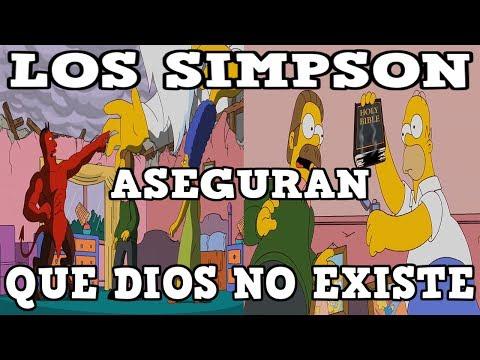 LOS SIMPSON ASEGURAN QUE DIOS NO EXISTE