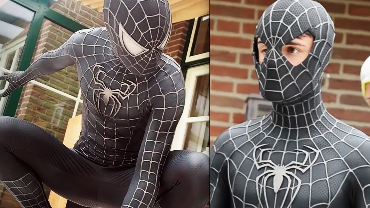 SPIDER-MAN Black Suit Movie Costume Replica! - YouTube