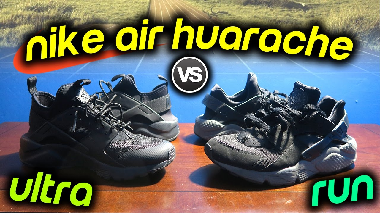 huge selection of 16e18 c0063 NIKE AIR HUARACHE RUN vs ULTRA RUN SNEAKER ON FEET COMPARISON!