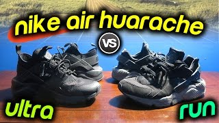 NIKE AIR HUARACHE RUN vs ULTRA RUN SNEAKER ON FEET COMPARISON!