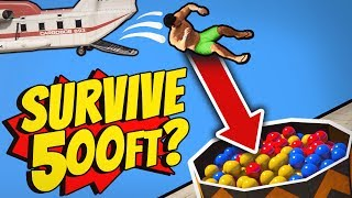GTA 5 - Survive a 500ft fall WITHOUT A PARACHUTE?