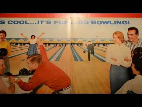 1959 AMF PINSPOTTER BOWLING ALLEY AD - COOL