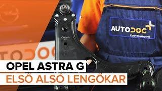 Hogyan cseréljünk Lengőkar OPEL ASTRA G Hatchback (F48_, F08_) - online ingyenes videó