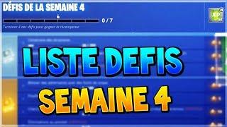 LISTE DES DEFIS DE LA SEMAINE 4 SAISON 8 + SOLUTIONS / ASTUCES FORTNITE BATTLE ROYALE !