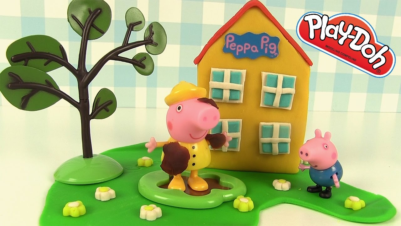 maison de peppa pig play doh p te modeler tuto youtube. Black Bedroom Furniture Sets. Home Design Ideas
