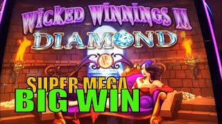 ★NEW ! WICKED WINNINGS II DIAMOND☆MEGA BIG WIN on SUPER FREE GAMES★Live Play @ Barona Casino☆彡栗