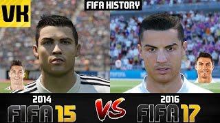 FIFA HISTORY 2014 vs 2016: FIFA 15 VS FIFA 17 PLAYER FACES COMPARISON!