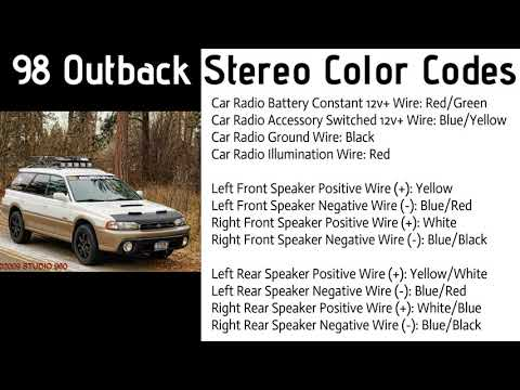 1998 Subaru outback Stereo color Codes . Car Stereo Color Codes - YouTubeYouTube