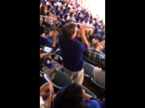 Man dances to Adrian Gonzalez intro song.