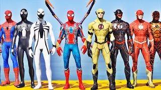 Time HOMEM ARANHA vs Time FLASH - GTA V Mods - Team Spider-Man vs Team Flash